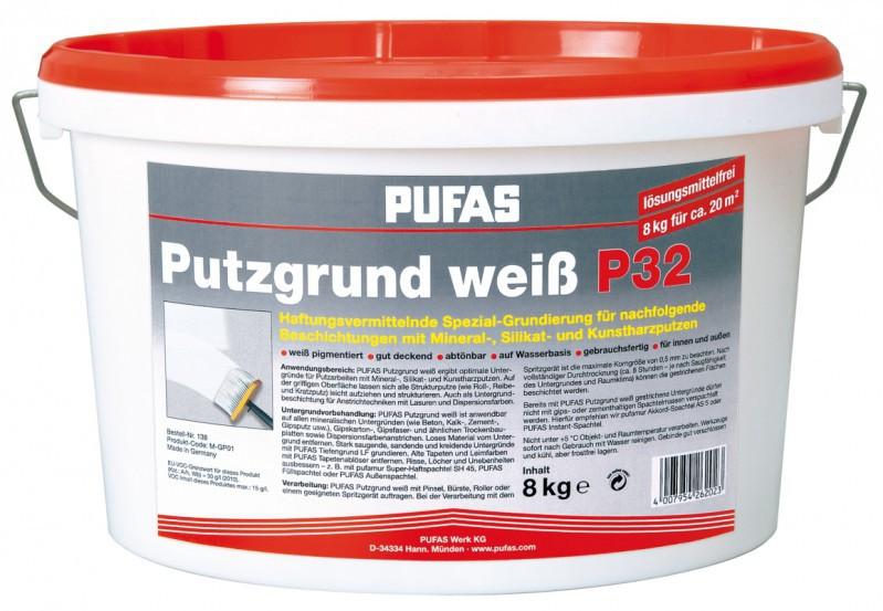 pufas putzgrund wei p 32 8 kg haus garten farben und putze grundierungen