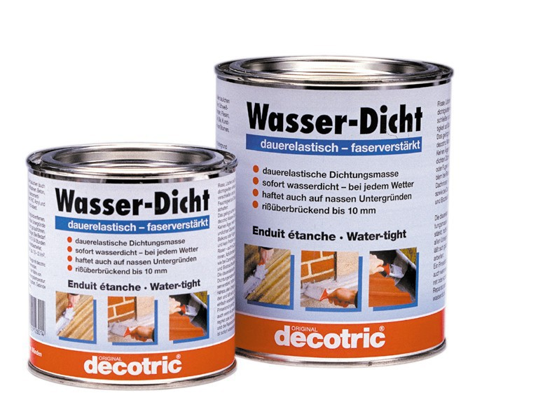 decotric wasser dicht 0 375 liter haus garten farben und putze f ll und spachtelmassen. Black Bedroom Furniture Sets. Home Design Ideas