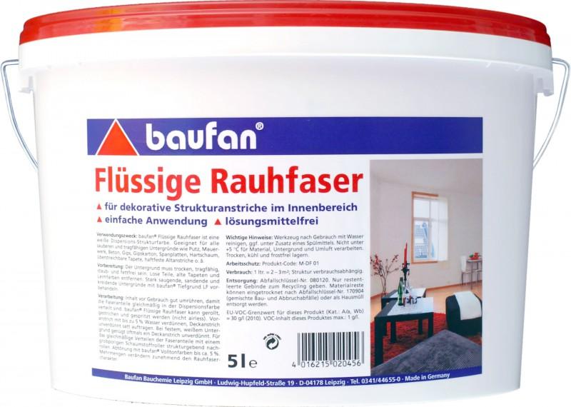 baufan fl ssige rauhfaser 5 liter haus garten farben und putze innenfarben. Black Bedroom Furniture Sets. Home Design Ideas